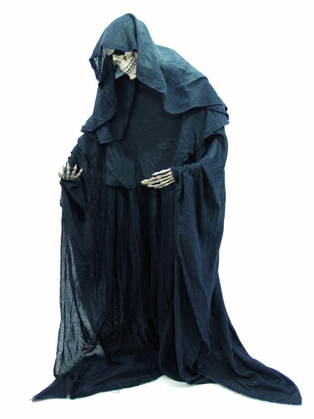 Halloween skelet med kappe