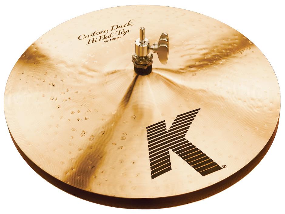 """Billede af Zildjian 14"""" K Custom Dark Hihatbækken"""