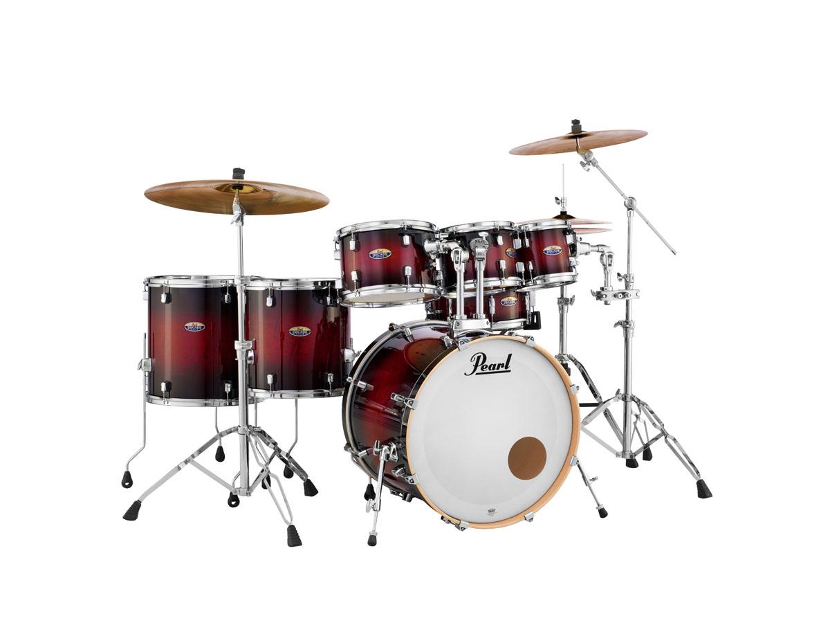 Billede af Pearl Decade Maple Standard Trommesæt Gloss Deep Red Burst