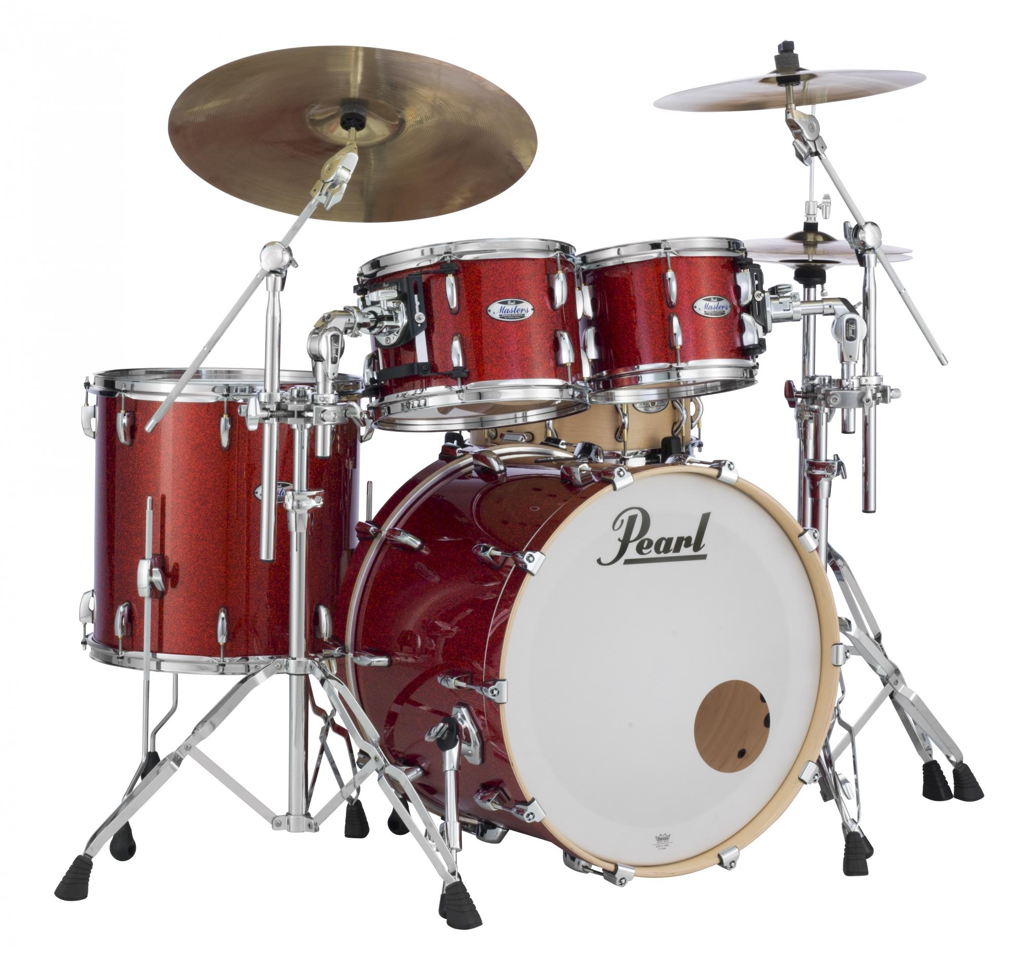 Billede af Pearl Masters Maple Complete Trommesæt Vermillion Sparkle