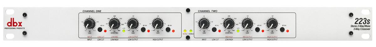 Billede af dbx 223s Stereo 2-Vejs/Mono 3-Vejs Delefilter