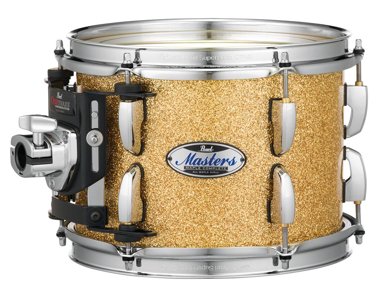 Billede af Pearl Masters Maple Complete Trommesæt Bombay Gold Sparkle