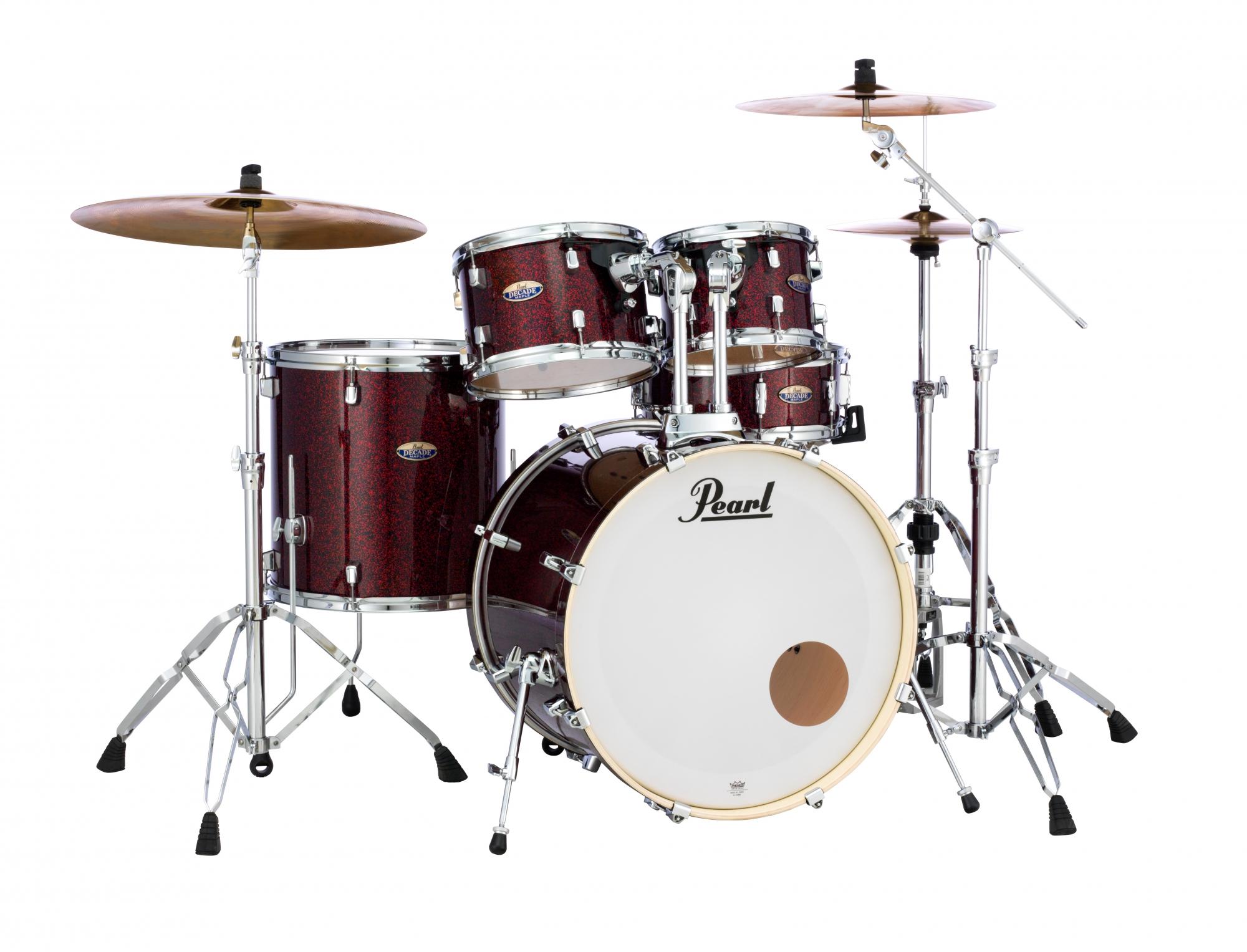 Billede af Pearl Decade Maple Standard Trommesæt Crimson Galaxy Flake