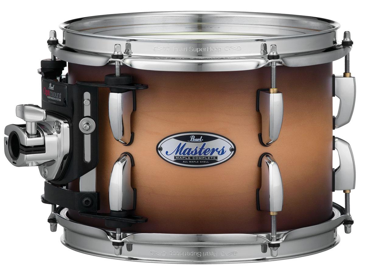 Billede af Pearl Masters Maple Complete Trommesæt Satin Natural Burst