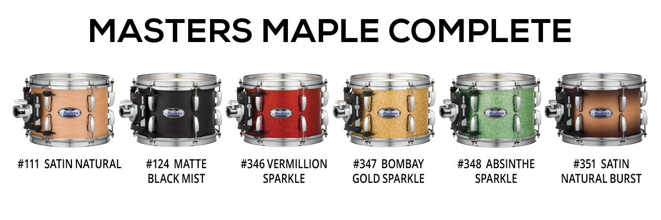 Billede af Pearl Masters Maple Complete Trommesæt Satin Natural