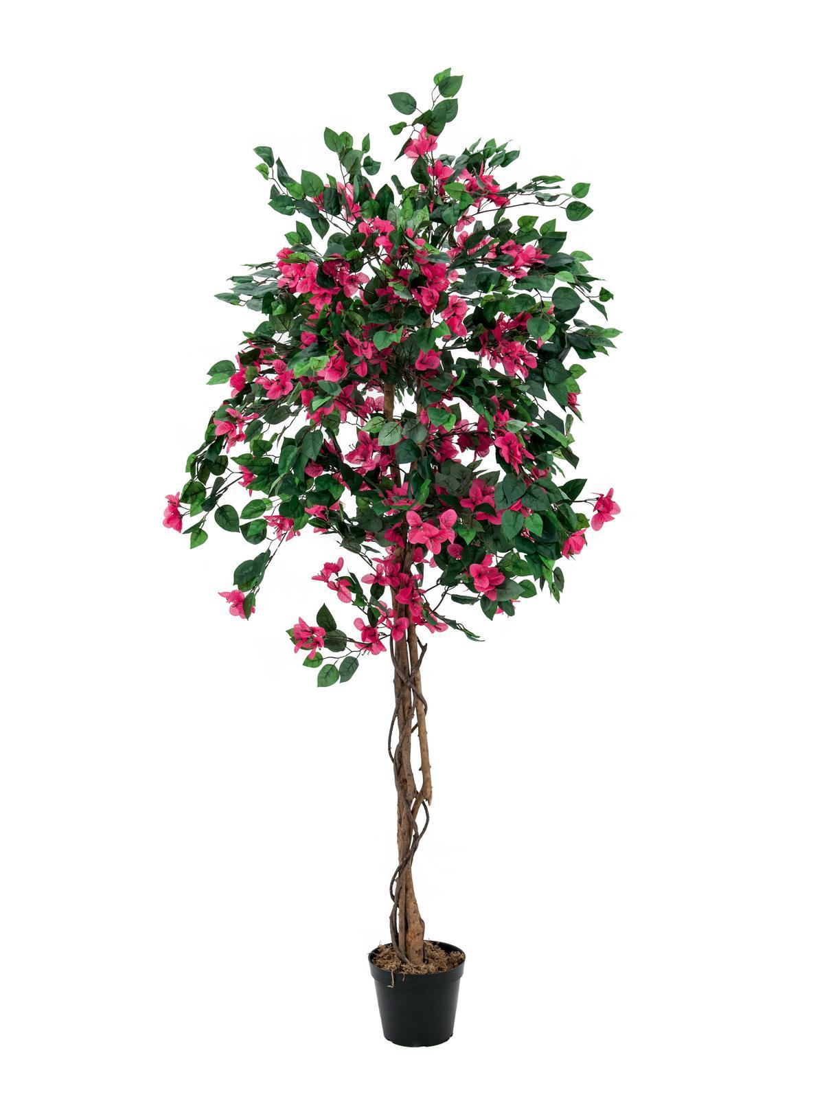 Billede af Kunstig Bougainvillea, rød, 180cm