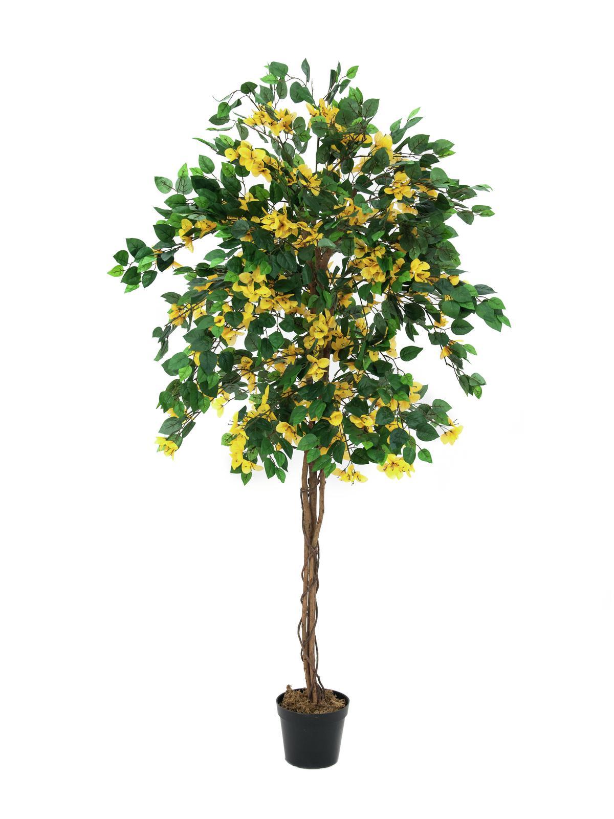 Billede af Kunstig Bougainvillea, gul, 180 cm