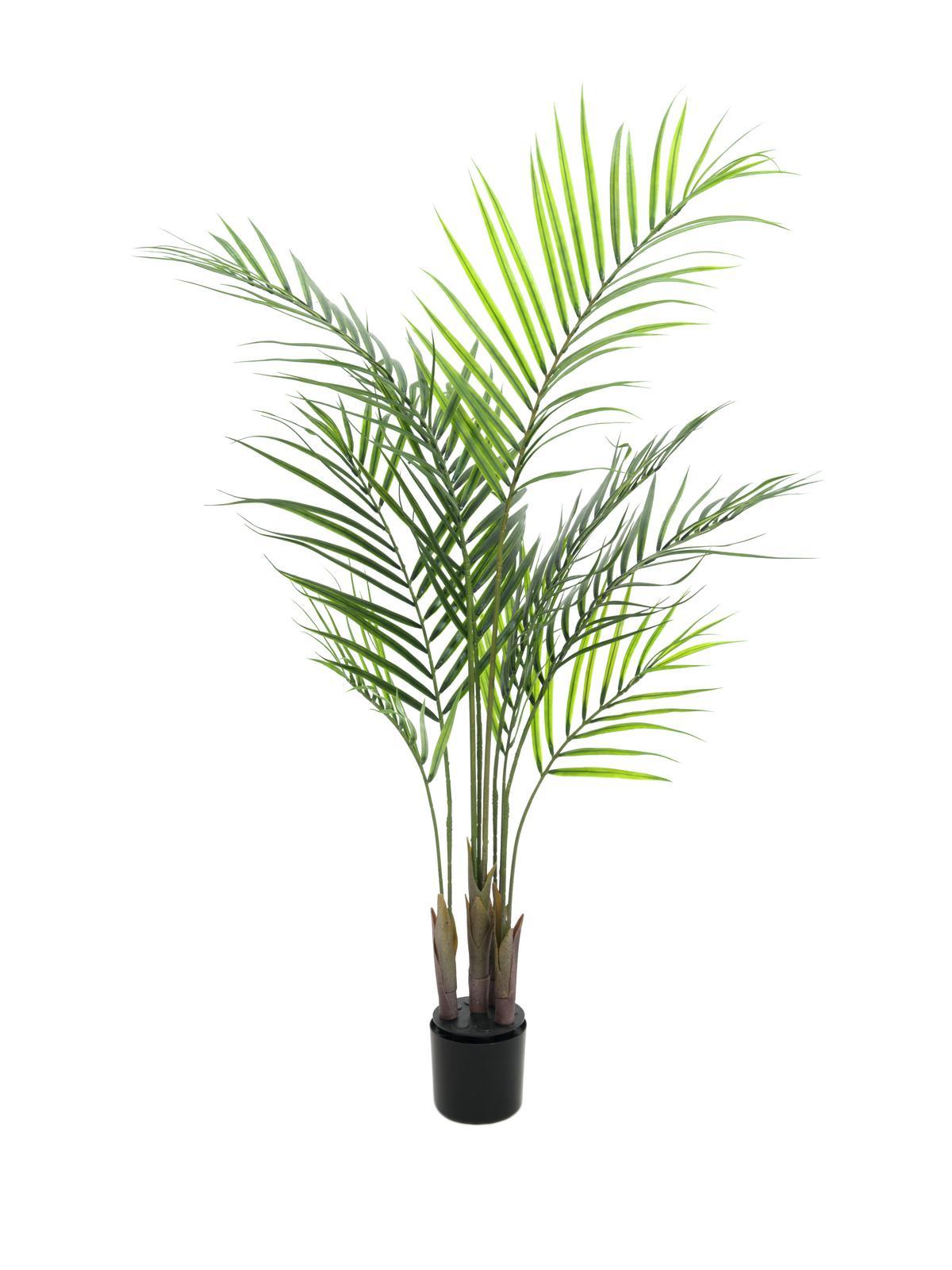 Image of   Kunstig Areca-palme med store blade, 125 cm