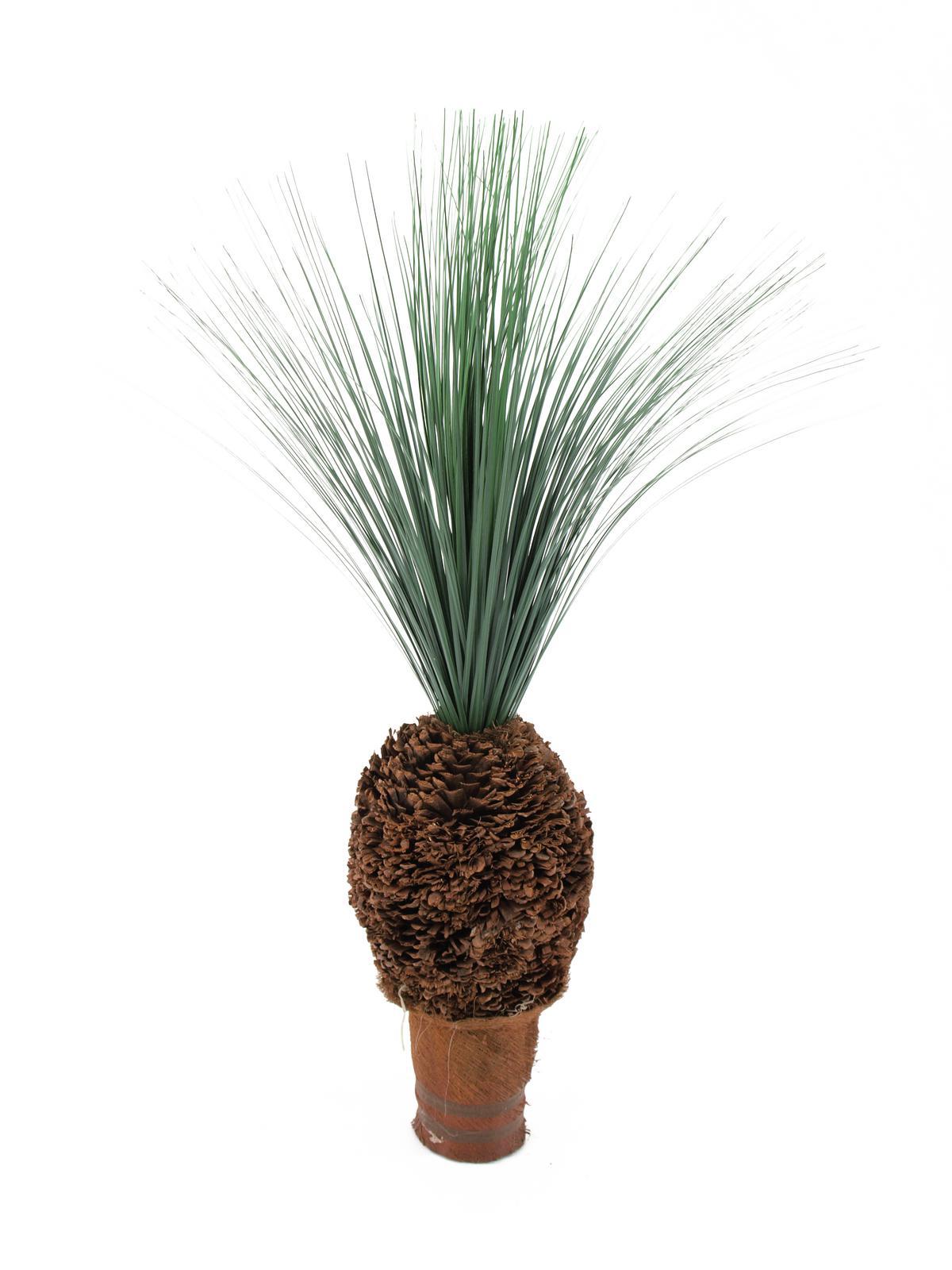 Image of   Kunstig Regngræs palme med knudestamme, 90 cm