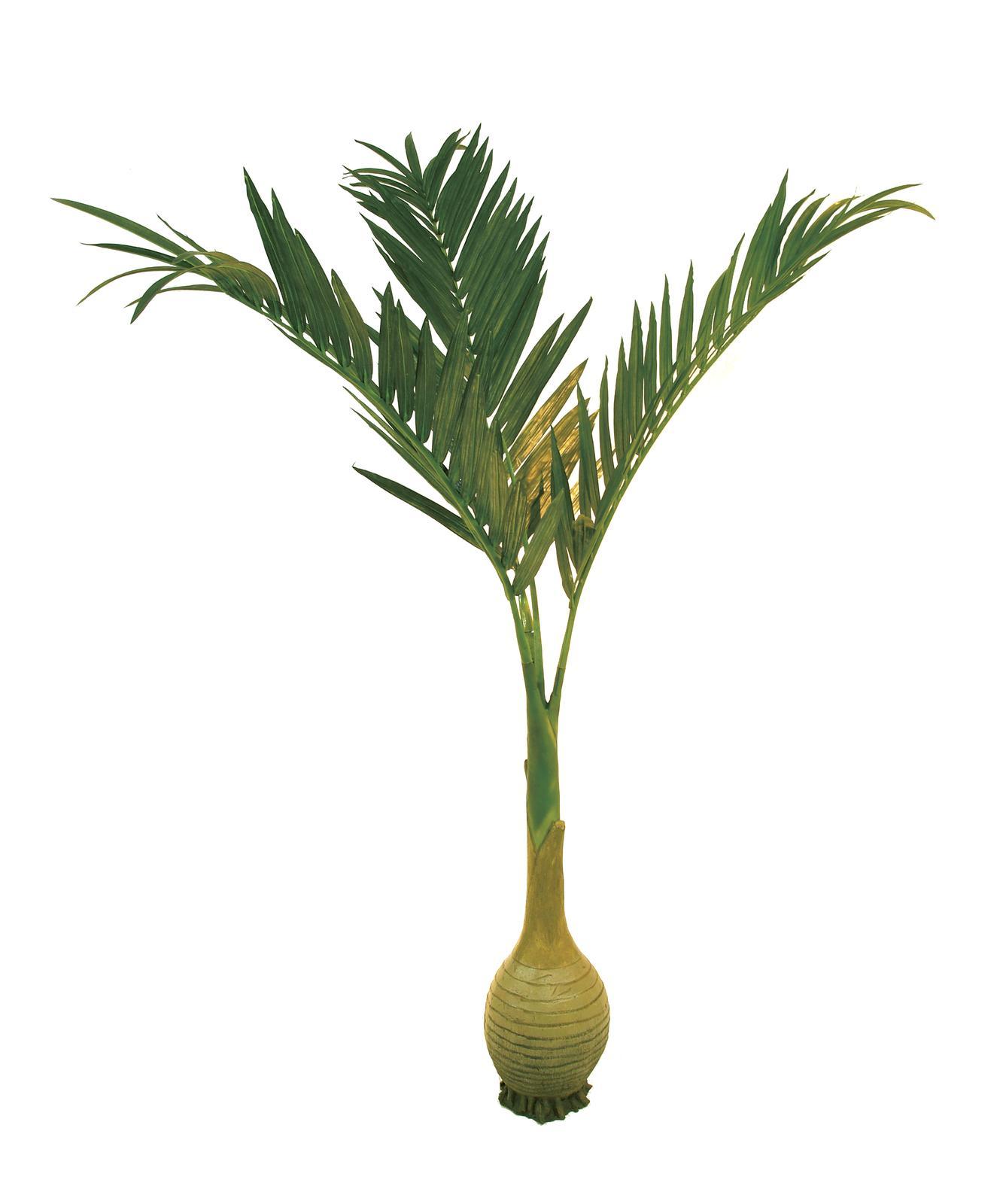 Image of   Kunstig palmetræ med flaskeformet stamme, 300 cm