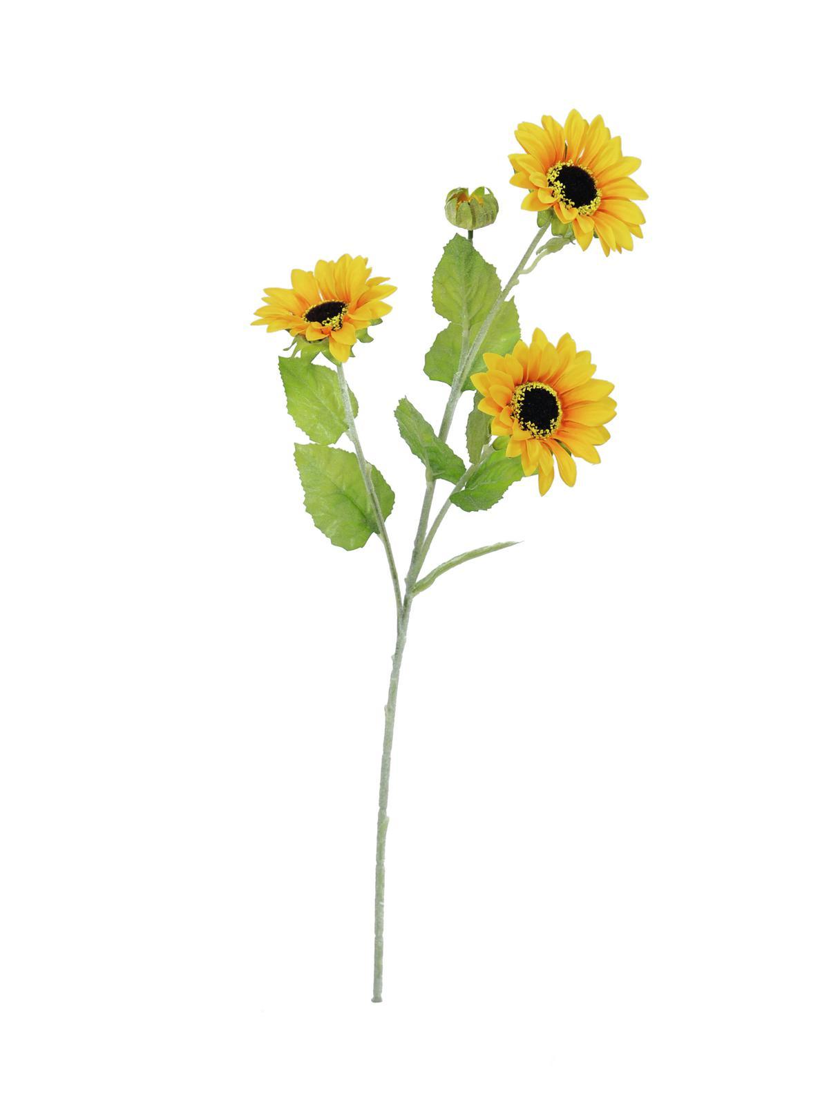 Billede af Kunstig Solsikke, 3 grene, 70cm