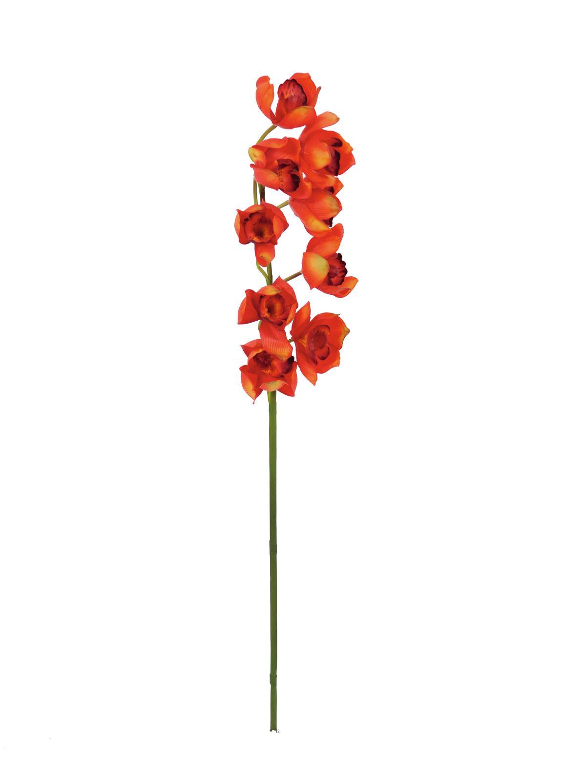 Billede af Kunstig Cymbidiumspray, red, 90cm