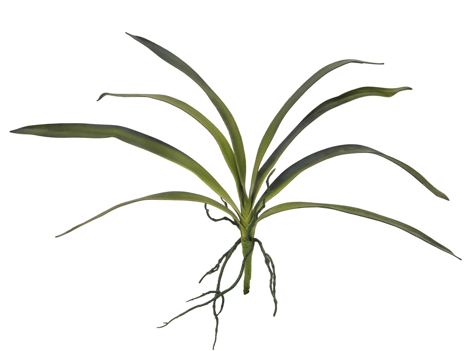Billede af Kunstig Orkidé Blade, Grøn, 45cm