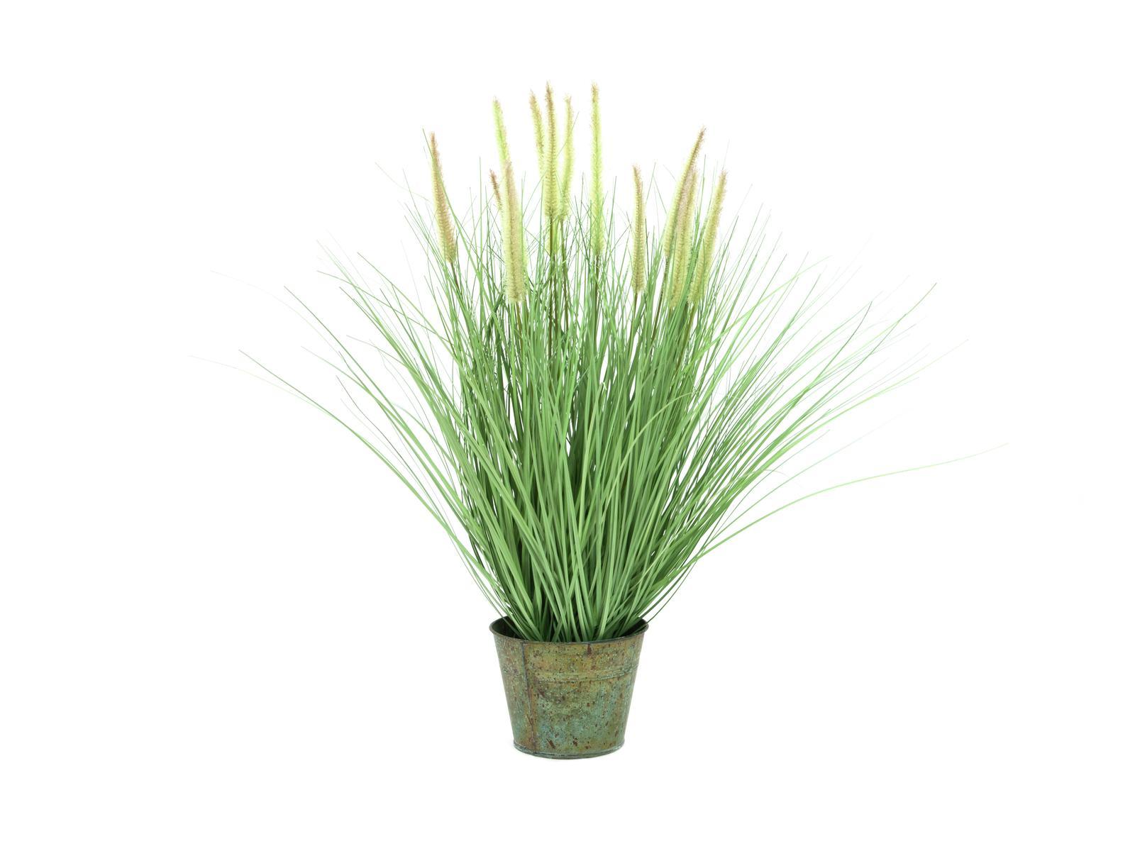 Billede af Kunstig Dekorativ blomstrende Græs, 70cm