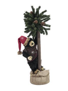 Billede af Julebjørn m. fyretræ, 105cm