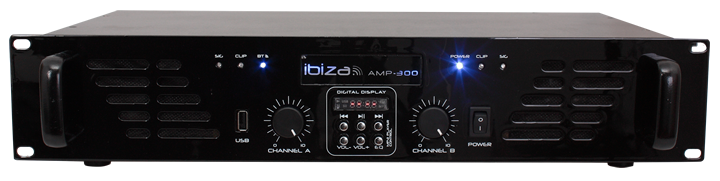 Image of   PA AMPLIFIER WITH LINE INPUT, USB & BLUETOOTH 2 x 240W
