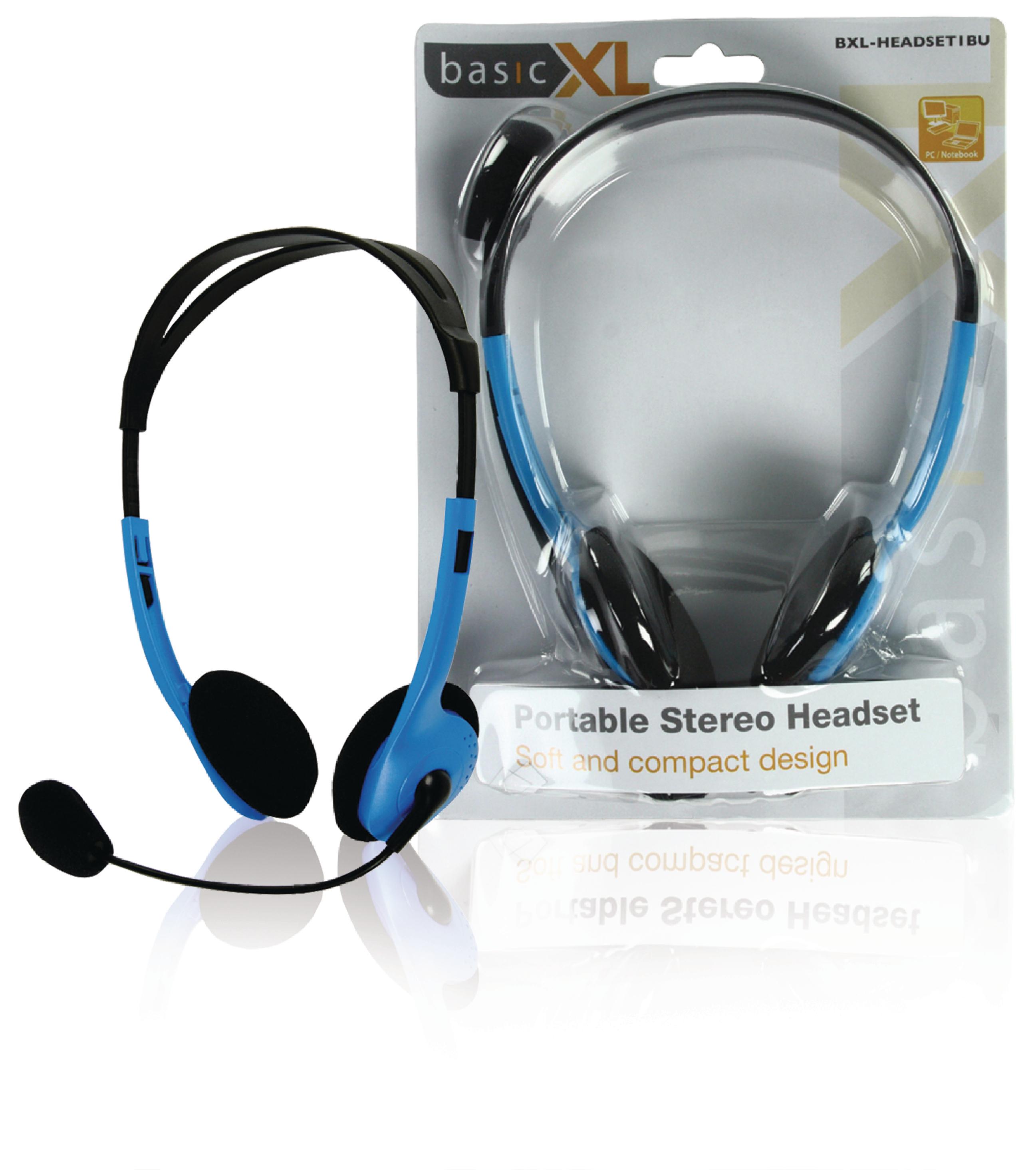 Image of   Headset On-Ear 2x 3.5 mm Indbygget Mikrofon 2.0 m Blå