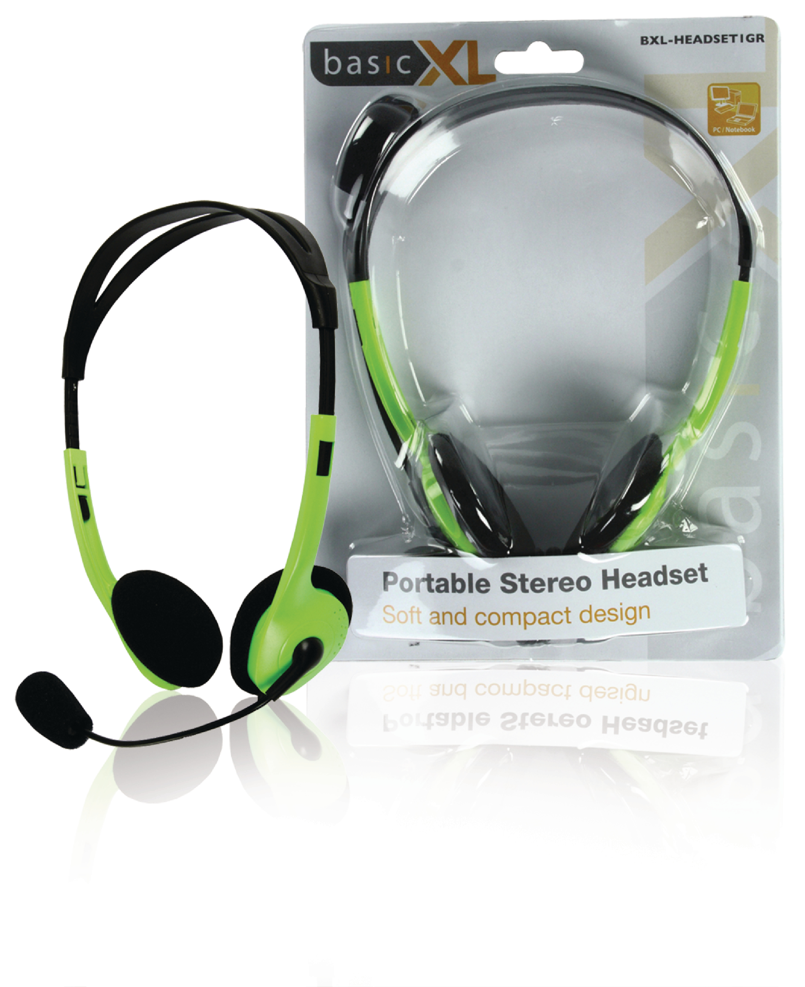 Image of   Headset On-Ear 2x 3.5 mm Indbygget Mikrofon 2.0 m Grøn
