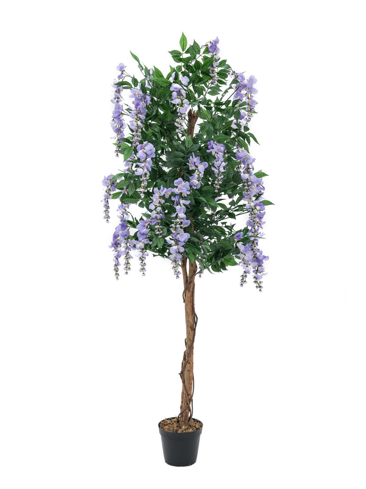 Billede af Kunstig Lilla blåregn træ, 150 cm