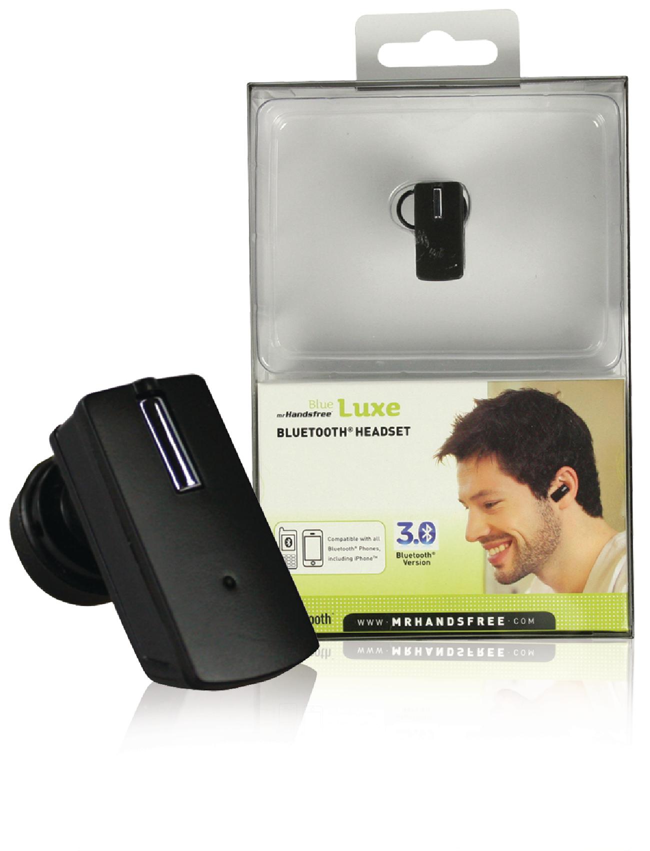 Image of   Headset In-ear Bluetooth Indbygget Mikrofon Sort