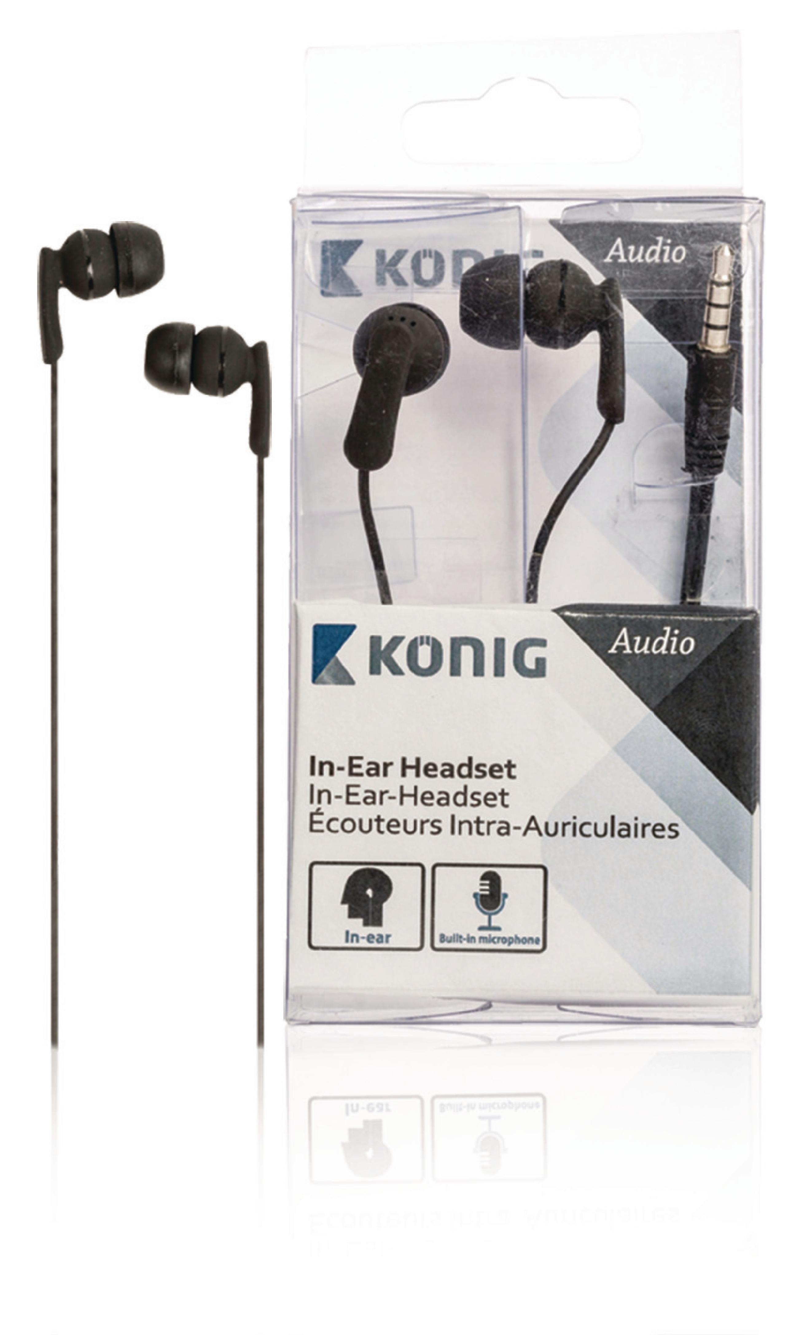 Image of   Headset In-ear 3.5 mm Indbygget Mikrofon 1.2 m Sort