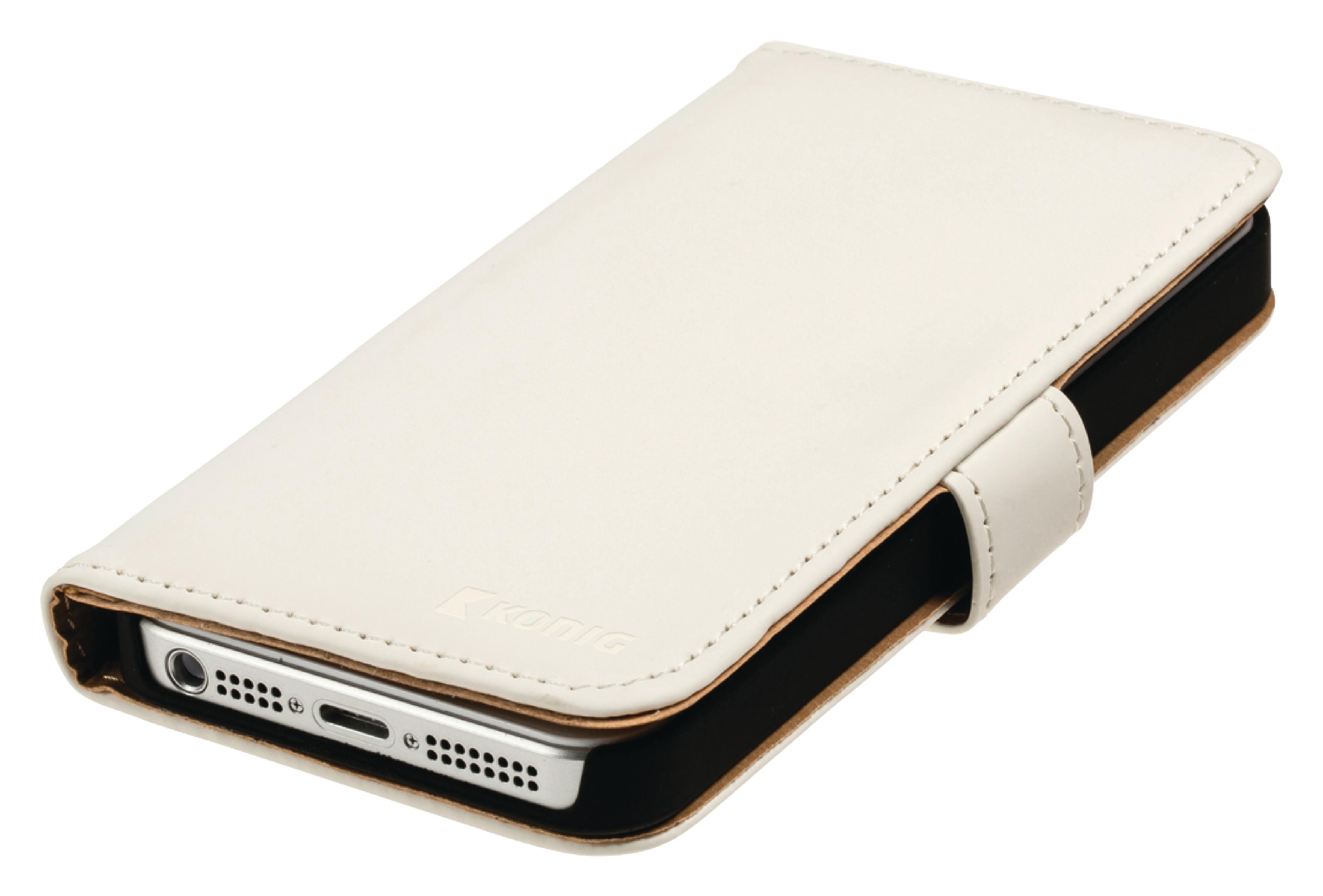 Image of   Telefon Tegnebogsetui Samsung Galaxy S5 Hvid