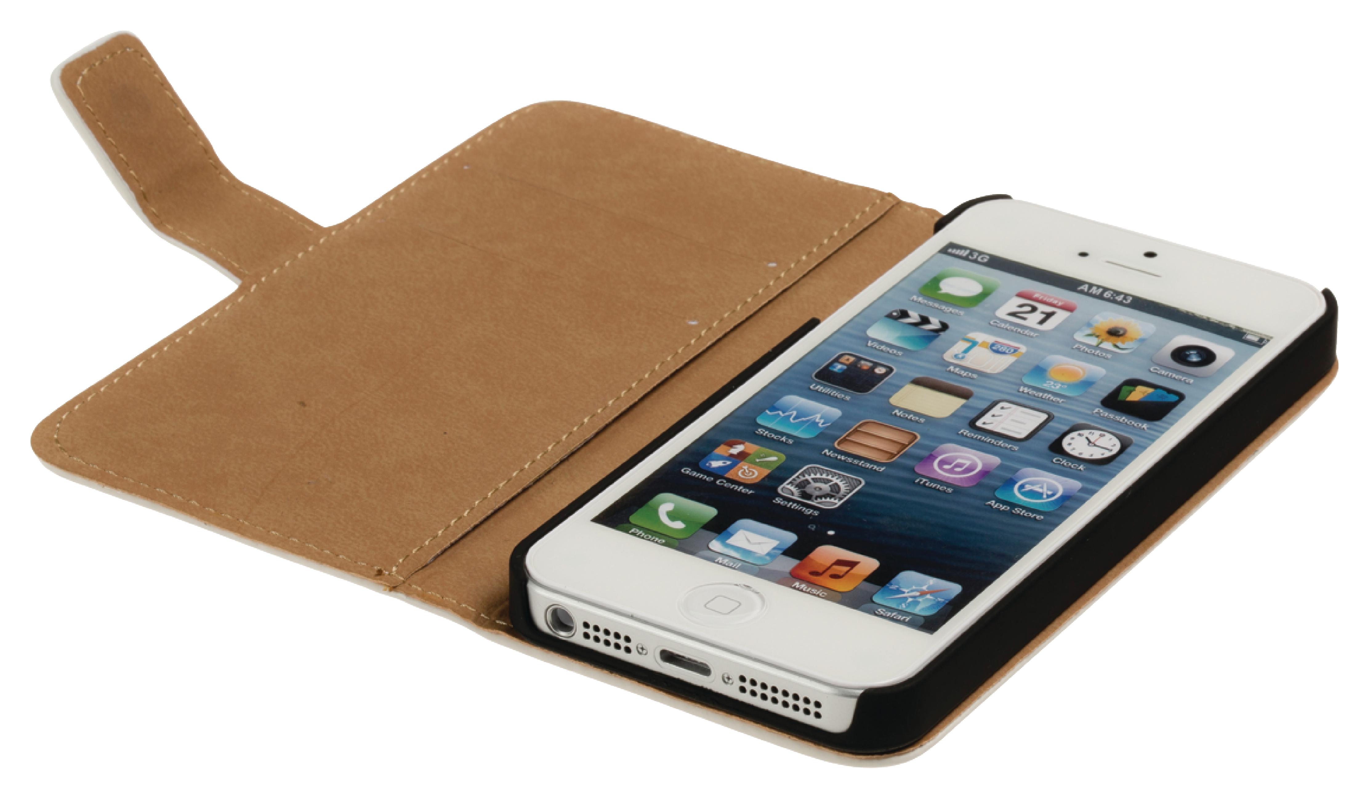 Image of   Telefon Tegnebogsetui Apple iPhone 5s Hvid
