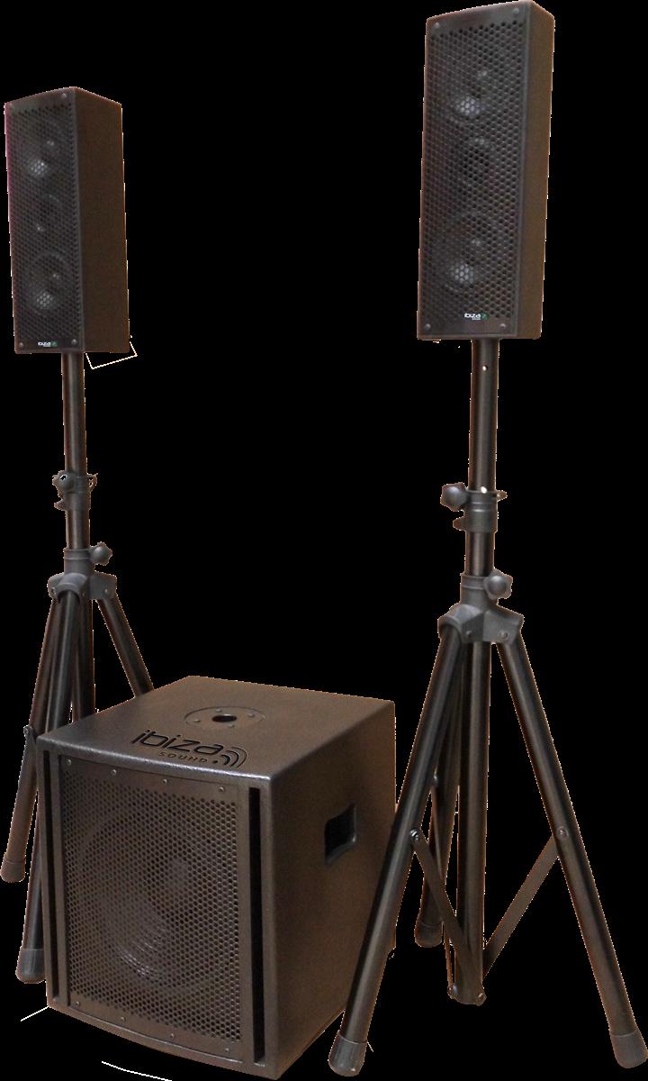 Billede af Ibiza Triphonic lydsystem 2.1, 800W