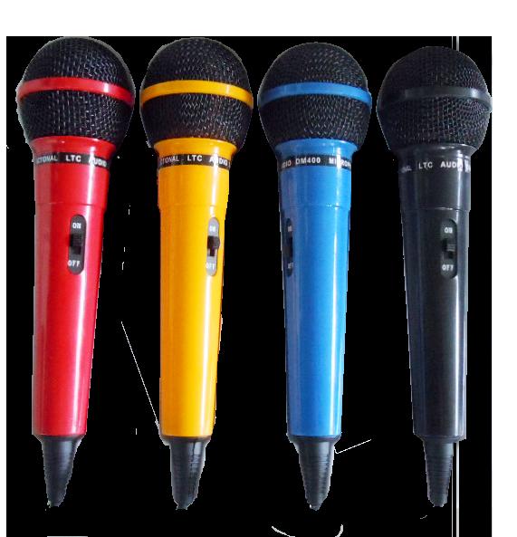 Billede af LTC mikrofoner, farvede, 4 stk.