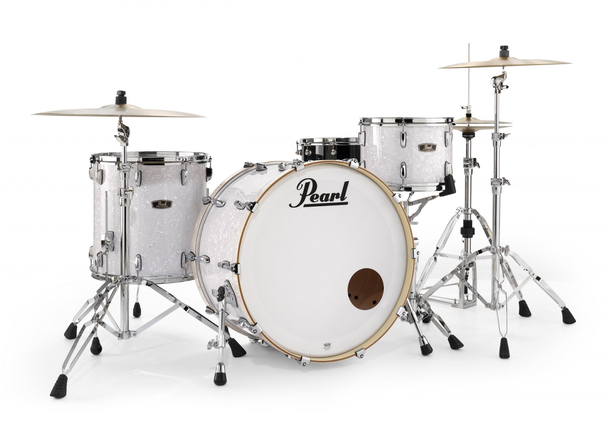 Billede af Pearl Wood Fiberglass Standard Trommesæt White Marine Pearl