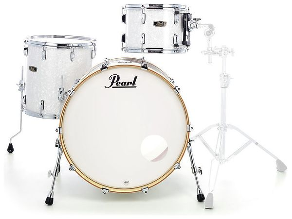Billede af Pearl Wood Fiberglass Rock Trommesæt White Marine Pearl