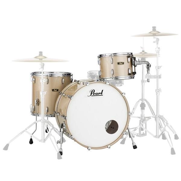 Billede af Pearl Wood Fiberglass Rock Trommesæt Platinum Mist