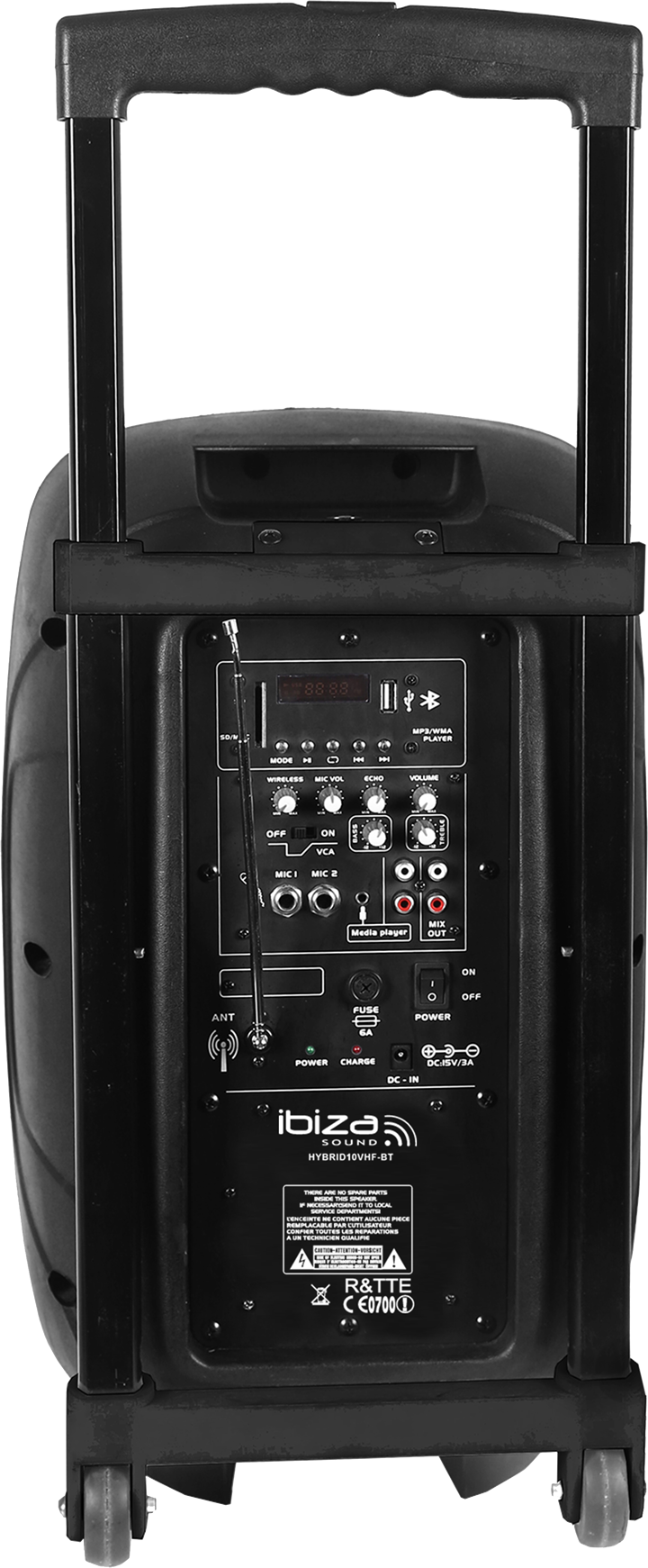 """Image of   PORTABLE STAND-ALONE PA SYSTEM 10""""/25cm WITH USB/SD, 1 x VHF MICROPHONE & BLUETOOTH"""