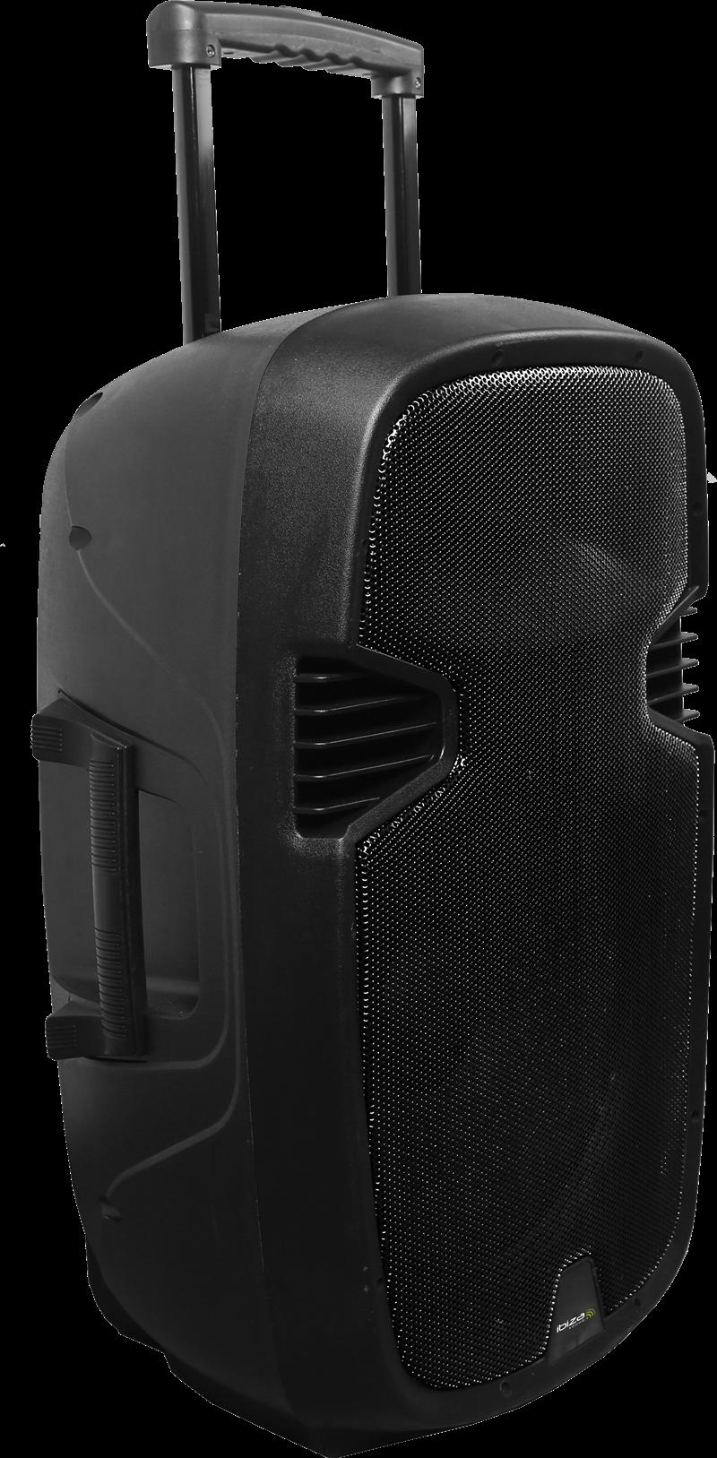 """Billede af Ibiza sound transportabel 15"""" højttalersystem med USB, SD, bluetooth og mikrofoner"""