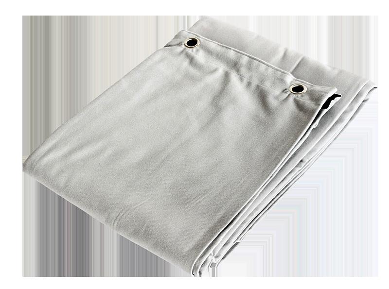 Billede af Molton Bagtæppe med øjer - Lysegrå 10x4 mtr.
