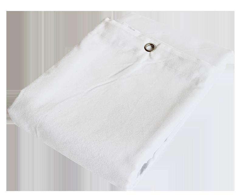 Billede af Molton Bagtæppe med øjer - Hvid 10x4 mtr.
