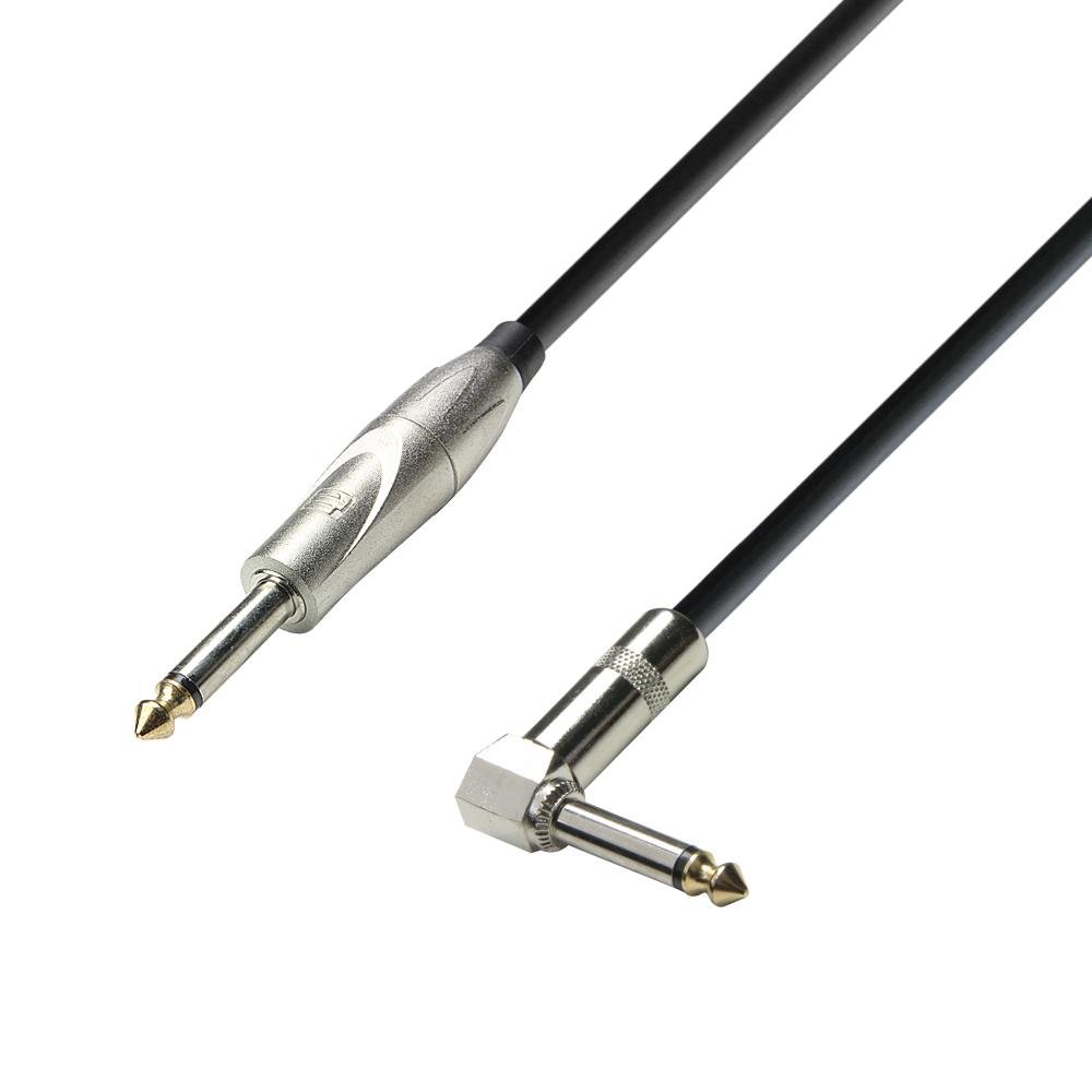 Billede af Instrument Kabel 6.3 mm Jack mono til 6.3 mm Vinkel Jack mono 3 meter