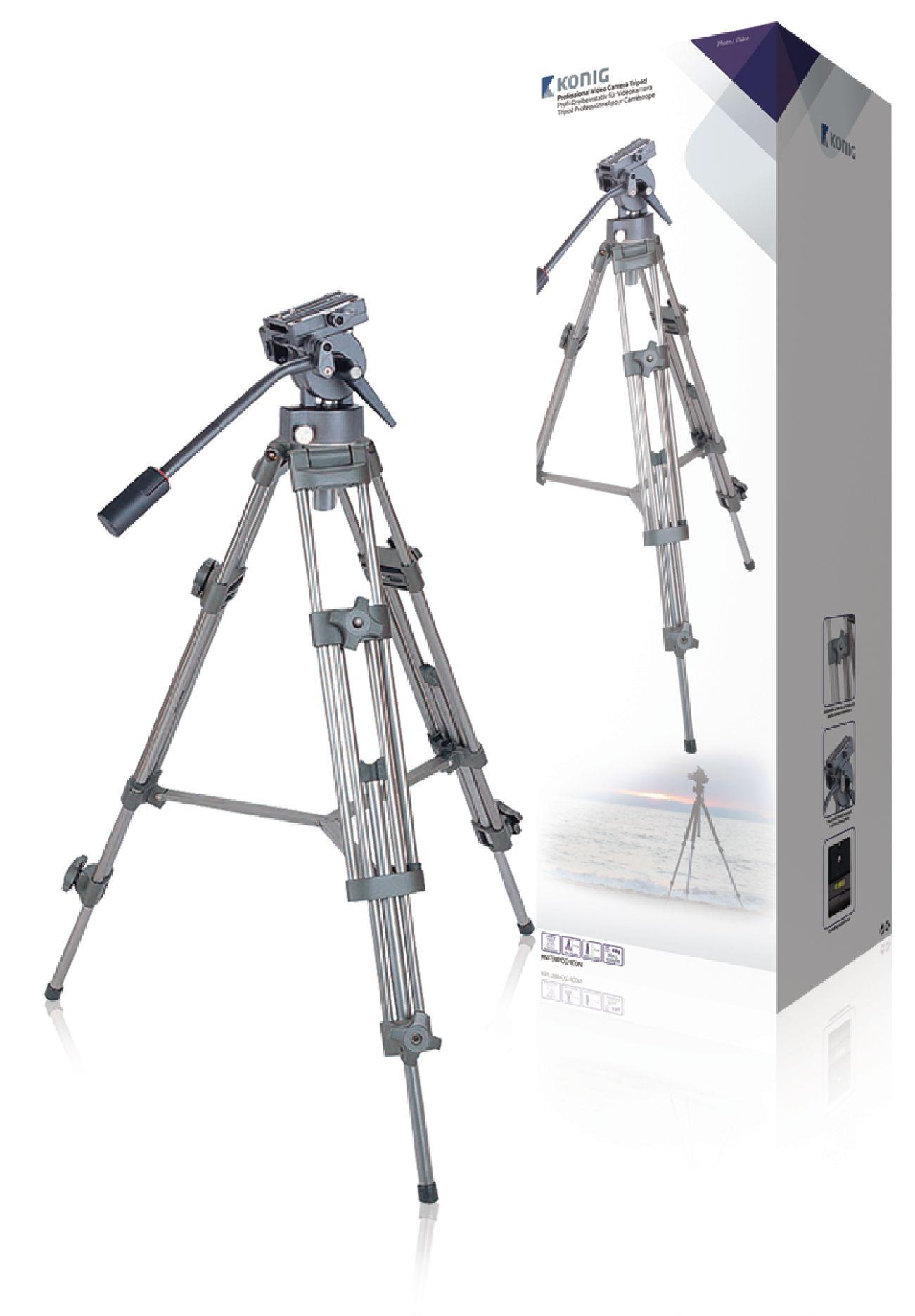 Billede af Video stativ vipbar, 137 cm. sort/sølv