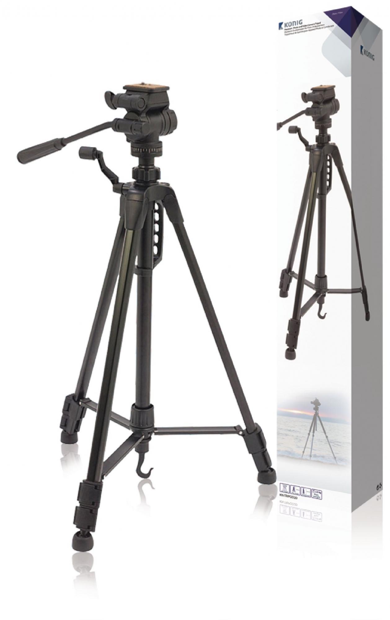 Billede af Kamera/video stativ vipbar, 148 cm. sort