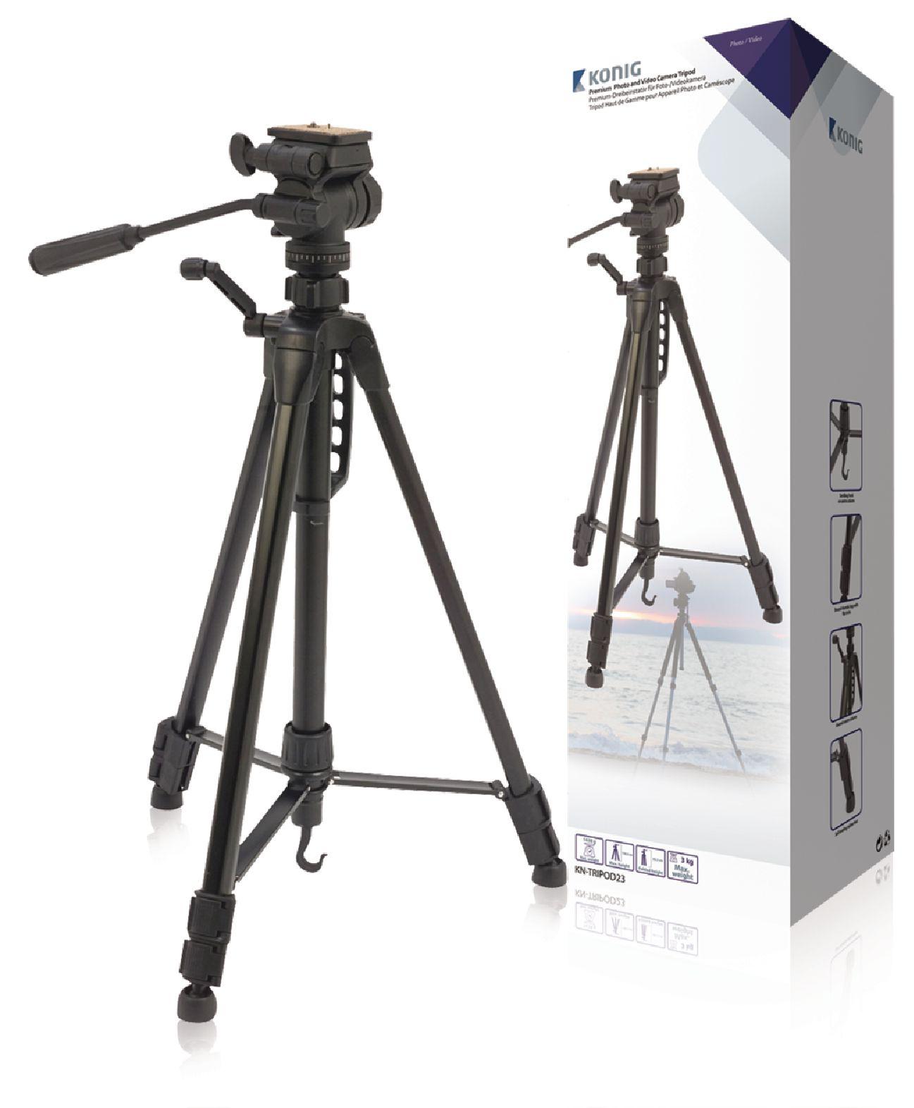 Billede af Kamera/video stativ vipbar, 160 cm. sort