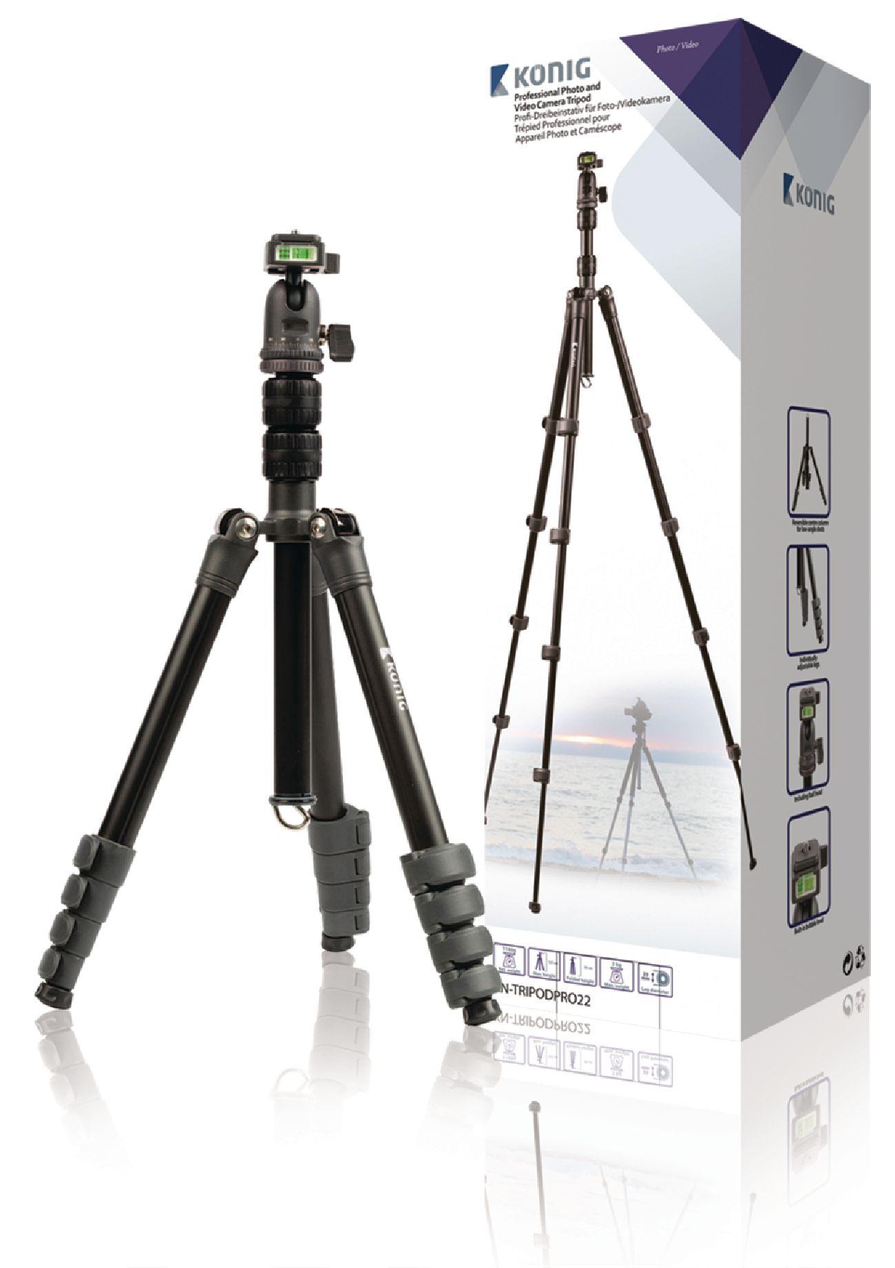 Billede af Professional kamera/video stativ hoved, 137 cm. sort