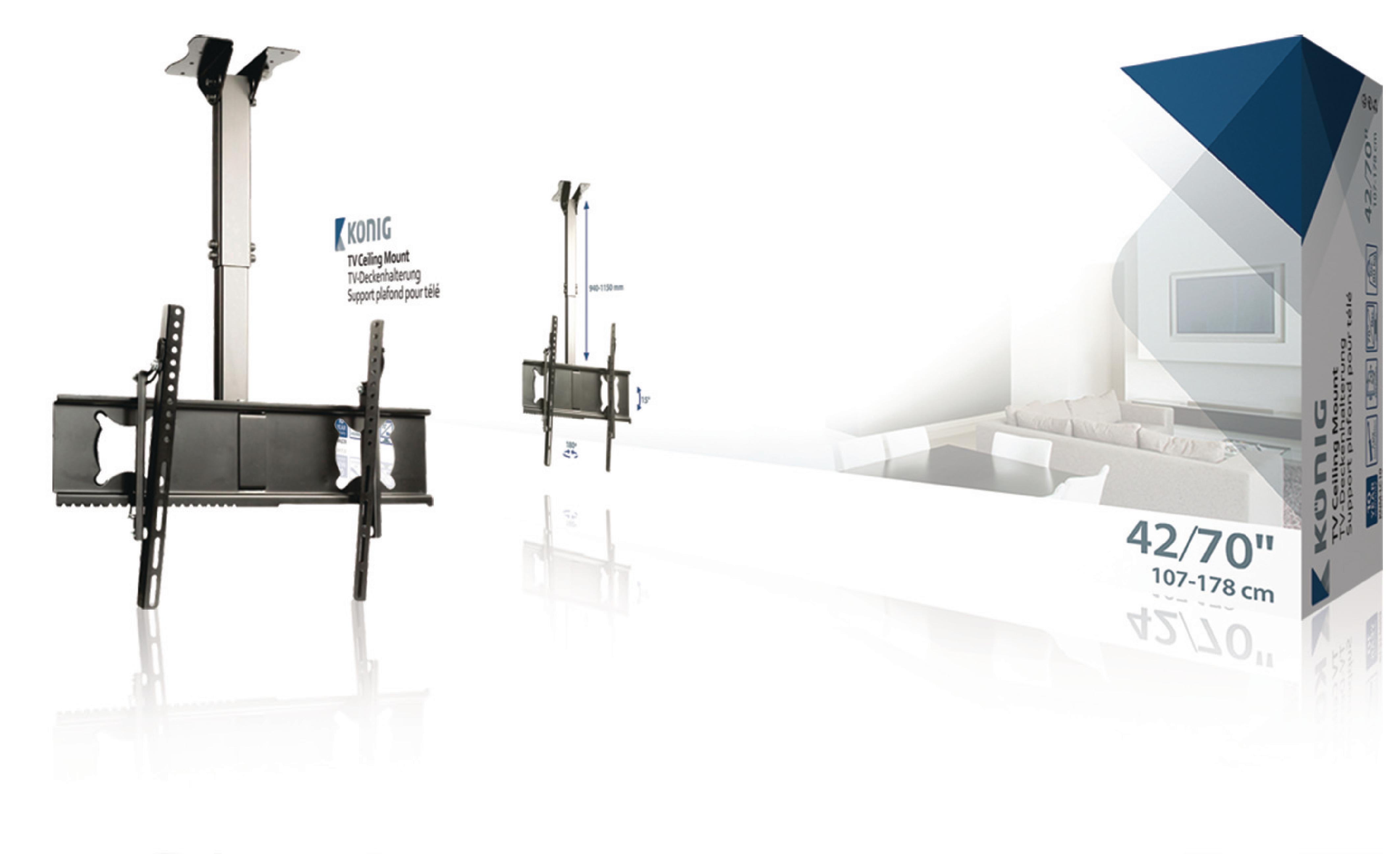 """Image of   Tv-Loftbeslag Fuldt Bevægeligt 42 - 65 """" 80 kg"""