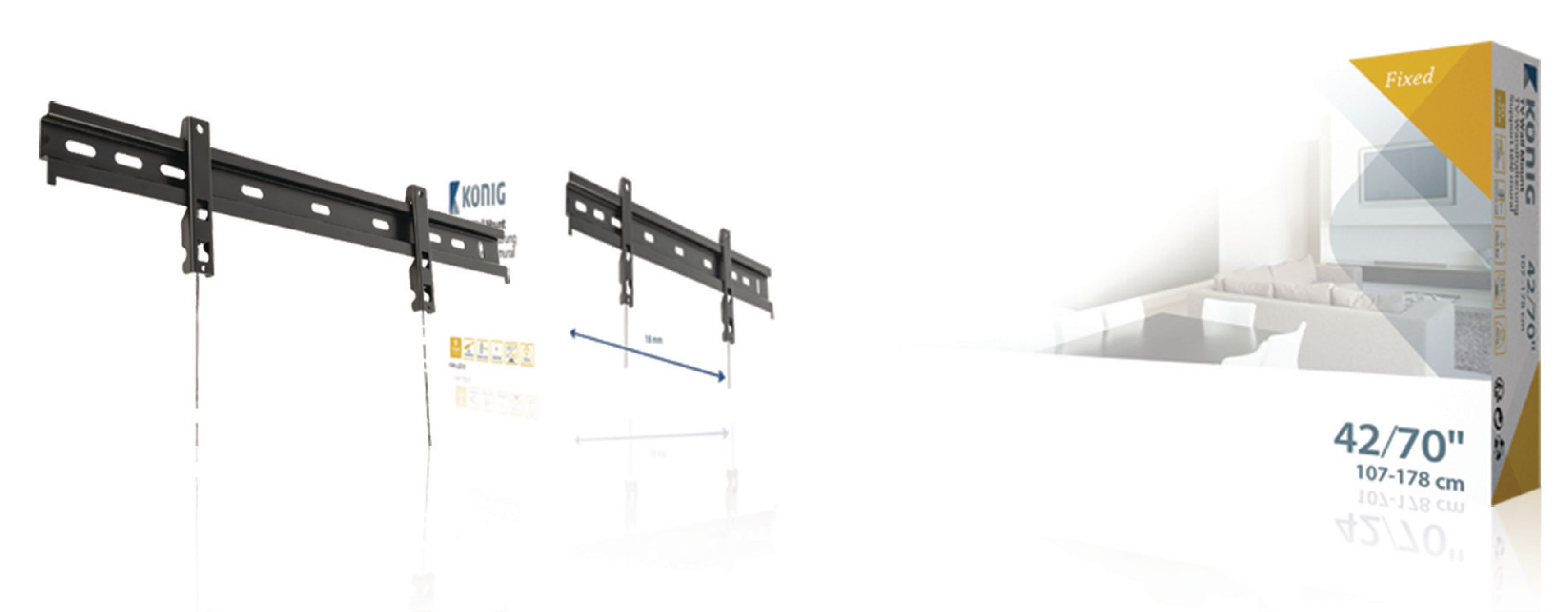 """Image of   Tv Vægbeslag Hurtig 37 - 65 """" 60 kg"""