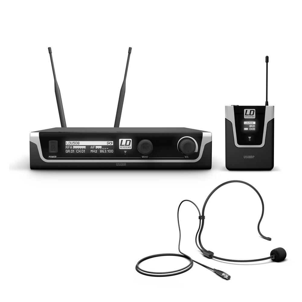 Billede af LD Systems U508 BPH - Trådløs mikrofon system med Bodypack og Headset