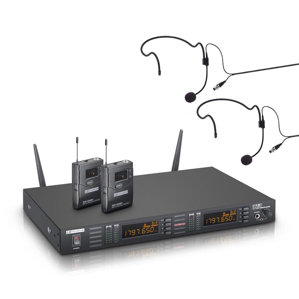 Billede af LD Systems WS 1G8 BPH2 Dobbelt Trådløs Headset mikrofonsæt