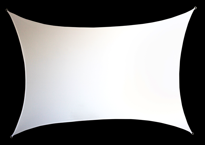 Image of   RECTANGULAR SHAPED WHITE FABRIC