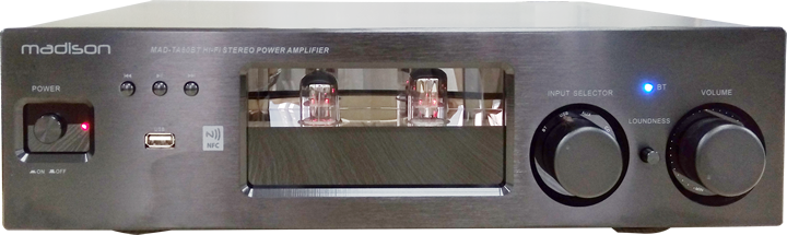 Image of   TUBE AMPLIFIER 2 x 80W WITH BLUETOOTH & NFC