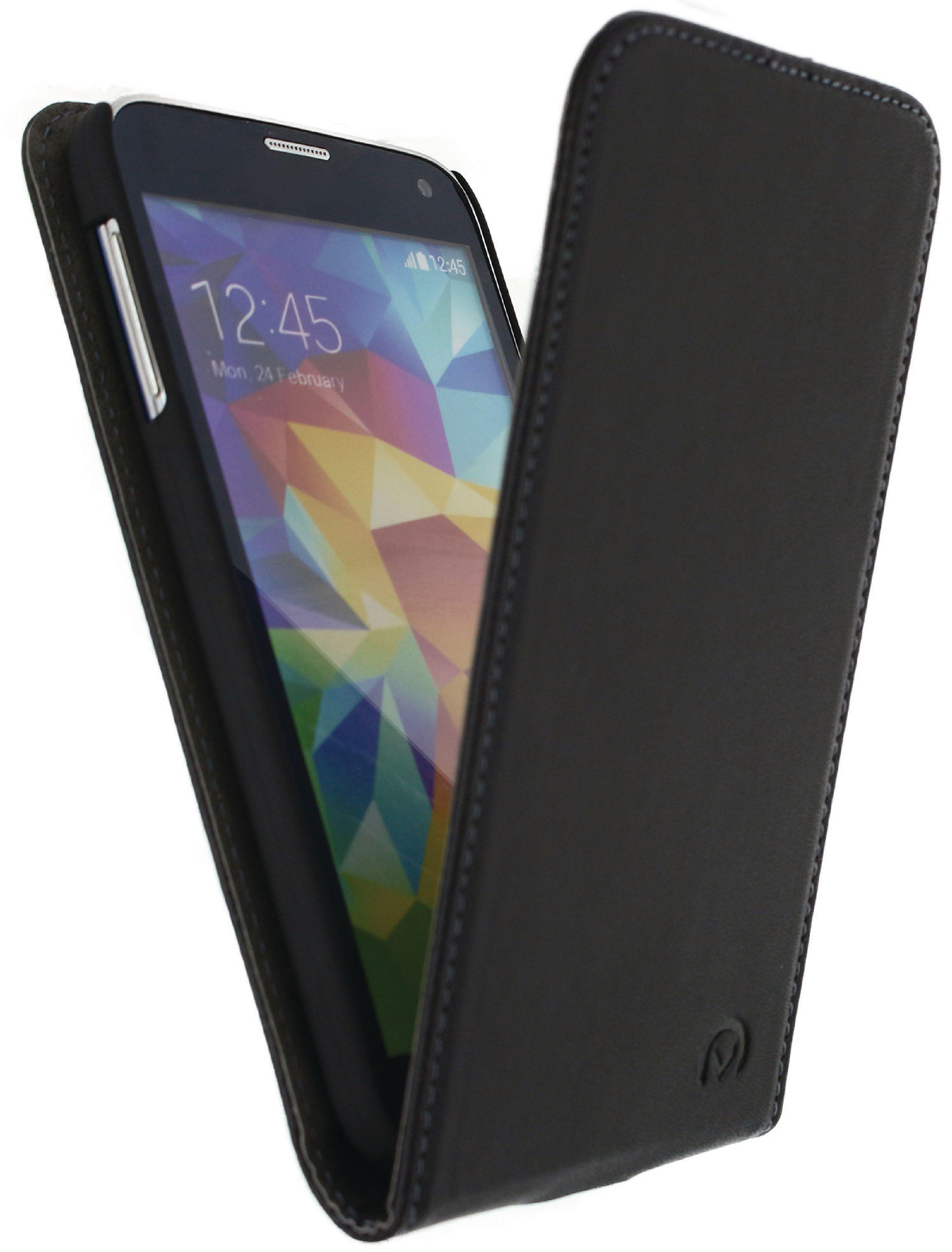 Image of   Telefon Premium Vippeetui med Magnet Samsung Galaxy S5 / S5 Plus / S5 Neo Sort