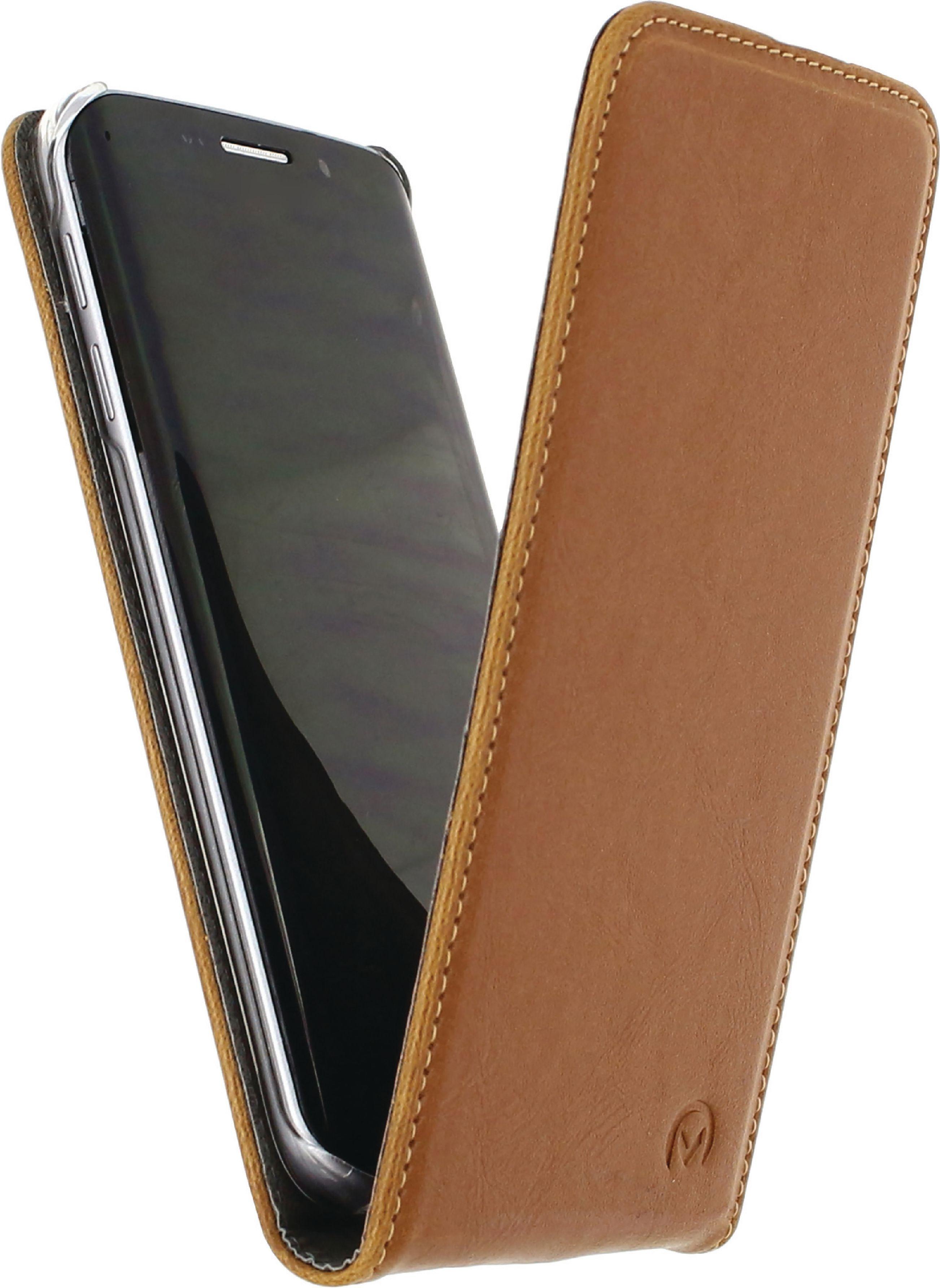 Image of   Telefon Premium Vippeetui med Magnet Samsung Galaxy S6 Edge+ Brun