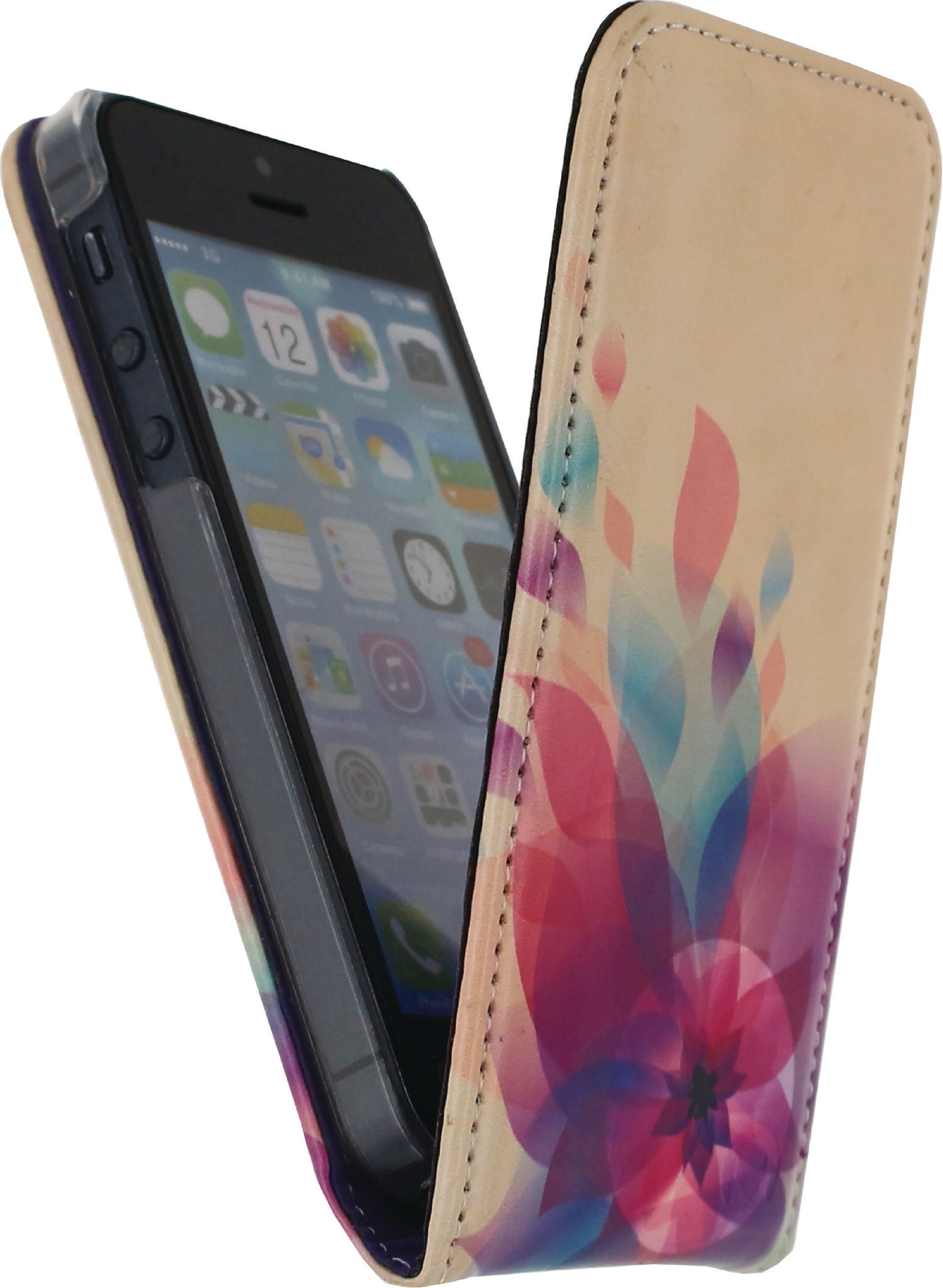 Image of   Telefon Premium Vippeetui med Magnet Apple iPhone 5 / 5s / SE Flowers